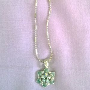 Womens Cookie Lee Flower Necklace